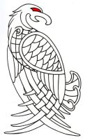 Viking Celtic Eagle Outline by vikingtattoo