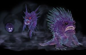 Ghastly, Haunter  and Gengar by RtRadke