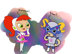 Atomic Betty meets Penny Plutonium by MannyG86