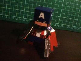 Captain America Paper Toy by papertoyadventures