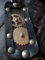 Gear leather fob badge- B by missmonster