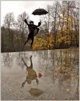 The flight in rainy day by Mimy0318
