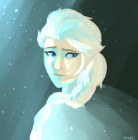 lonely snow queen by CHAOTIKproductions