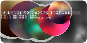 5 Large Colorful Textures by ofthespectrum