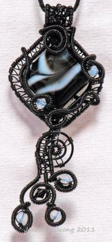 Banded Black Onyx Pendant by MorrighanGW