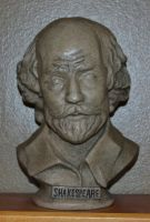 My bust of Shakespeare by ArtieWallace