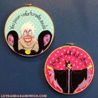 Disney Villain hoops by loveandasandwich
