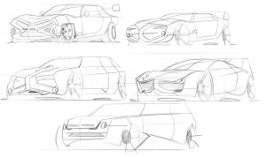 062910 Muscle Car sketches by Dannychhang
