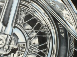 Heritage softail by prismacolorjessie