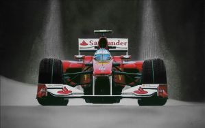 Alonso Ferrari F1 Art by TonyRegan