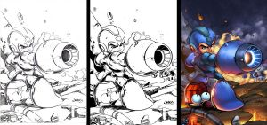 Megaman Tribute Side-by-Side by Crausse