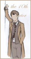 10th Doctor Sketchdoodle by PhoenixSparrow