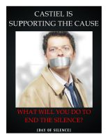 Castiel Supports NoH8 by ZiaRenete13x