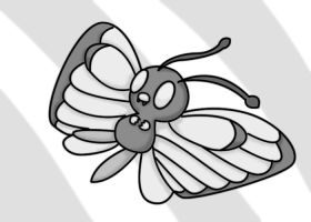Butterfree grayscale by ShadowSilverfan1997