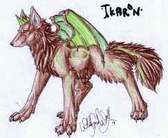 Demonic Wolf with Dragon Wings by WhiteSpiritWolf