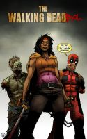 Michonne and The Walking DeadPOOL by AndrewKwan