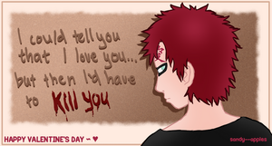 Gaara's Valentine by Sandy--Apples