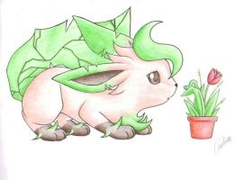 PKMN: Eeveelutions - Leafeon by Carro-chan
