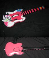 Guitar Hero Painted Controller by BlackStarDesigns