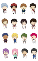 Kuroko No Basket Minis by queen-of-rainbows