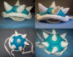 Blue Koopa/Turtle Shell Backpack by IkuniHattori