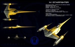 Naboo N-1 Starfighter ortho by unusualsuspex