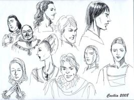 Richard III characters sketch by cabepfir