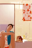 Sunday Night Bath by PascalCampion