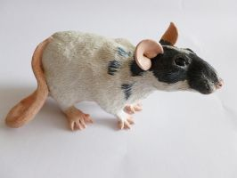 Fancy Rat Sculpture by philosophyfox