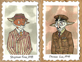 1940's Badges -- Stephen + Lux by Geistlicher