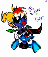 Clever n Gojira by CleverDragoness01
