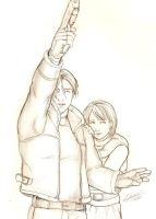 Leon S Kennedy and Ashley by Holly-the-Laing