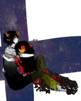 Sollux and Aradia [Homestuck] by KatyMarshall