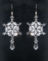 Briliant Swarovski Crystal Snowflake Earrings by ZeldaLassing
