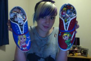Custom Zelda Shoes by AmySargeant