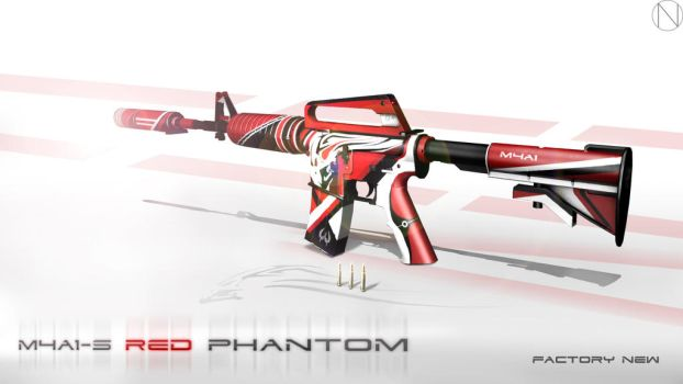 M4A1-S Red Phantom by Nocluse