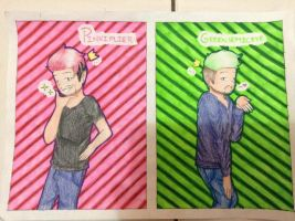 [Septiplier] Pinkiplier and Greensepticeye by Doug675