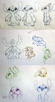 Stitch Model Sheets by nor-renee