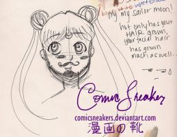 Sailor Moon Facial Hair by ComicSneakers