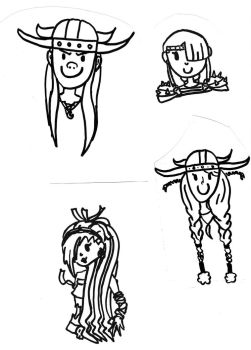 Chibi collection: Ruff, Tuff, Astrid and Zobiko by TheMarvelSketcher