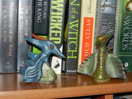 blue and green dragon 1 by dottypurrs