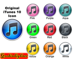 Colorful iTunes 10 icons by goobinhighner