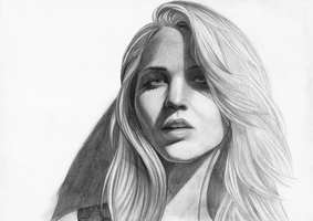 Failed Jennifer Lawrence Portrait by white-materia