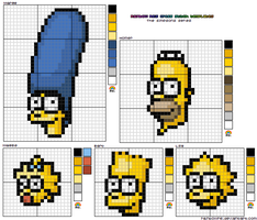 Simpsons Cross Stitch Template by rainbowrei