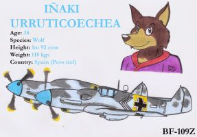 Inaki and his BF-109Z by DingoPatagonico