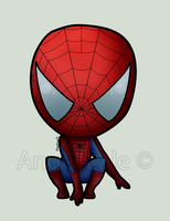 Spiderman Chibi by AngelLale87