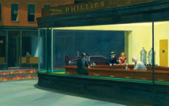 Nighthawks Back To The Future by JasBones