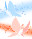 Fire and Ice Butterflies White by YukiMatsuda