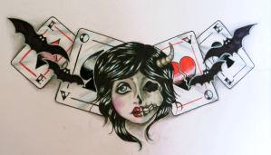 The Evil Queen of Hearts by ponychops