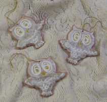 Owl Cookie Ornaments by MorganCrone